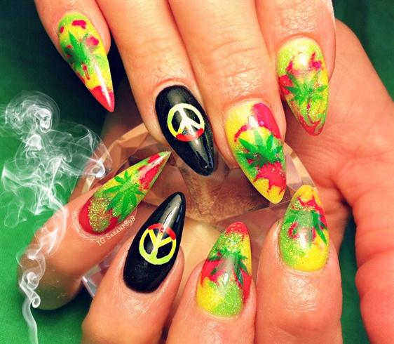Marijuana Nails Nail Art Gallery