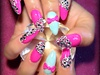hot pink crystal overload