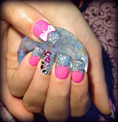 Pink Bows - Nail Art Gallery