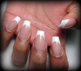 pink and whites on coffin nails