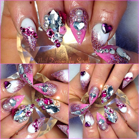 Barbie nail bling