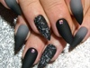 Matte Black & Grey Damask Ombre