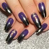 Purple Black Ombre, Tape & Swarovski
