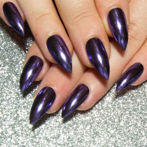 Purple Chrome Stiletto