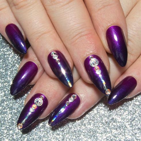 Purple Ombre & Swarovski