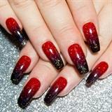 Black & Red Ombré