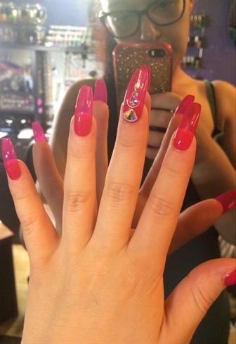 Pink Glass & Swarovski AB