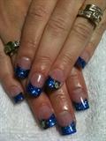 Electric Blue Acrylics