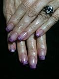 Purple Shimmer Acrylics