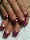 Dark Purple Purple Shimmer Acrylics