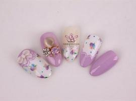 Korean Floral Nails