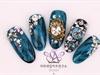 korean autumn nail art