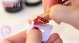 Sexy RED tartan nail