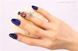 Navy nail art