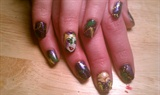 Fat Tuesday! Woohoo! Mardi Gras Nails!