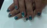 Natural nails_blue zebra