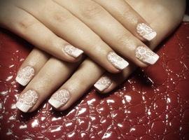 nail art: Bridal