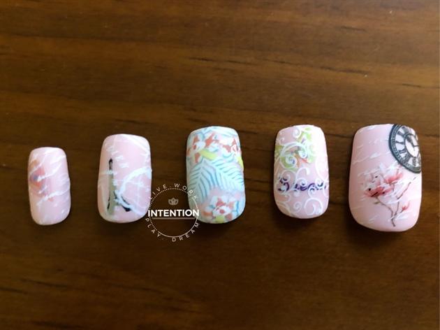 Pink Matte Stamping