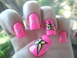 fluorescent butterly