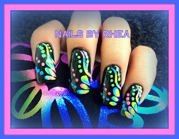 Neon Multi color flowers