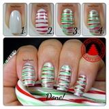 Easy Christmas Stripes Tutorail