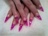Pink and Purple Stilettos