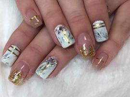 nail art: Gold & Marble