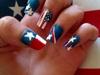 Flag american and texas