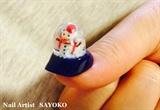SNOW DOME nail objet
