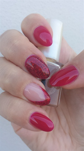 Cherry red with glitter