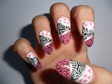 different prints nails