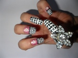 floral and woven nails