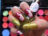 flowers and glitter polish