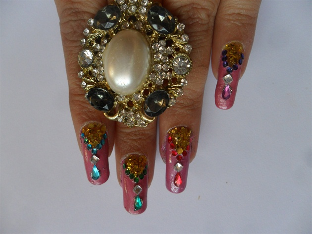 Jeweled Nails Nail Art Gallery
