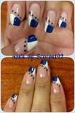 Blue & White Tips