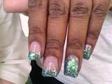 blue green n purple glitter