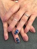Family tartan Nails