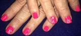 Neon Pink With Flowers
