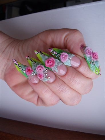 edge 3d roses