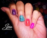 Rainbow glitter
