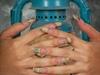scrapbook paper nails