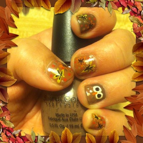 Fall/Thanksgiving Nail Art