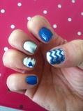 Blue Valentine Nail Art