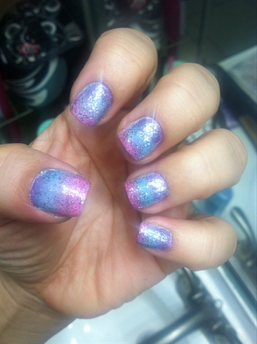 """1st Time Trying Out """"Sponge Nail Art"""""""