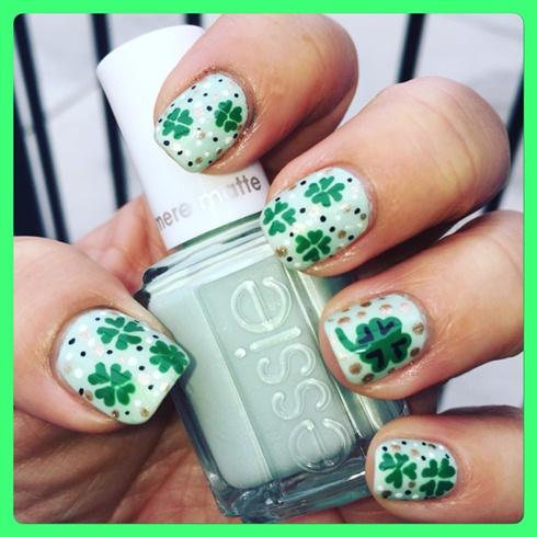 DIY St Patrick Day Nails