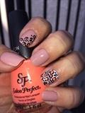 Leopard Gradient Nail Art