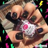 Nail Stamping W/Neon Polish