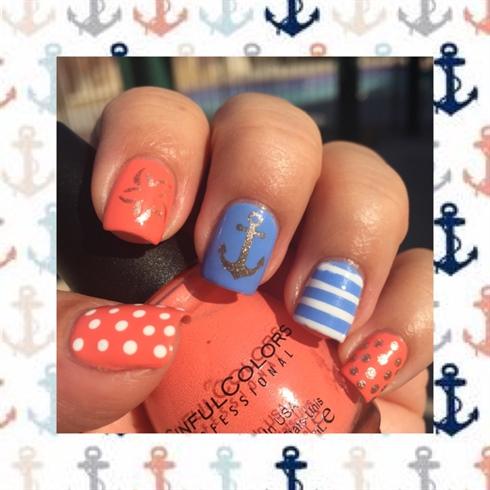 Anchor Starfish Nail Art