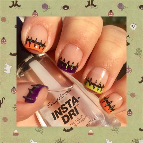 Frankenstein Stitched Nail Tips