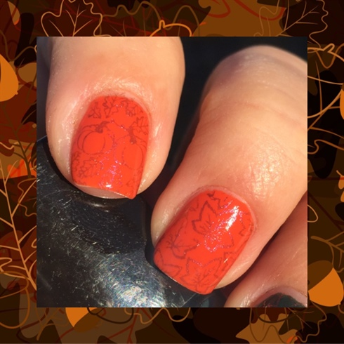 Thanksgiving Stamped Nails
